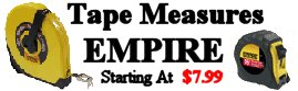EMPIRE Tape Measures