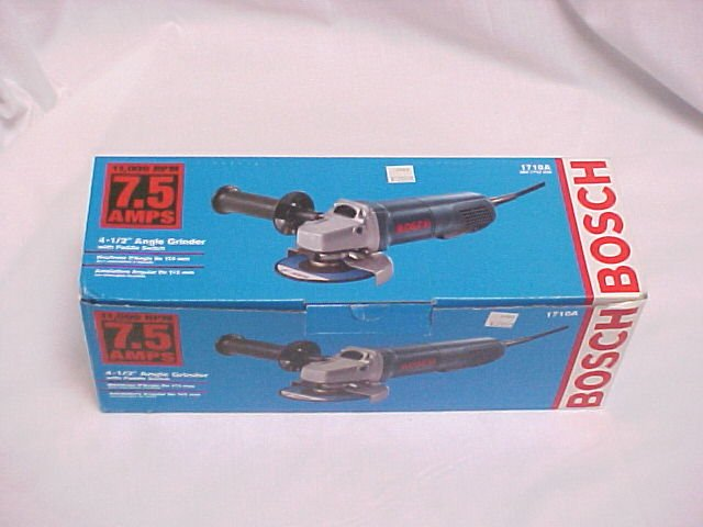 "4-1/2"" Bosch Small Angle Grinder With Paddle Switch - 7.5 AMPS"