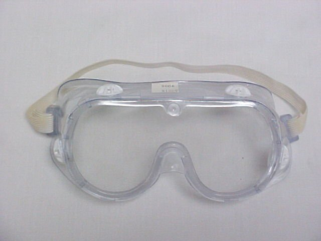 United Brand Clear Plastic Contractors Economy Safety Goggles