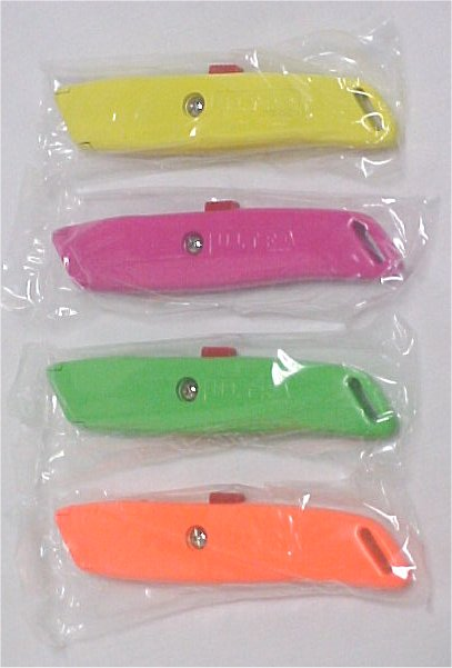 Retractable Safety Utility Knife Box Cutter W/Blade - 4 Different