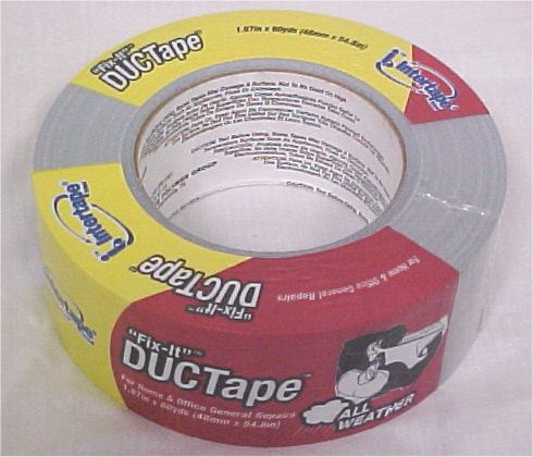 "Fix-It DUCTape 1.87"" x 60 Yds All Weather General Repairs Tape"