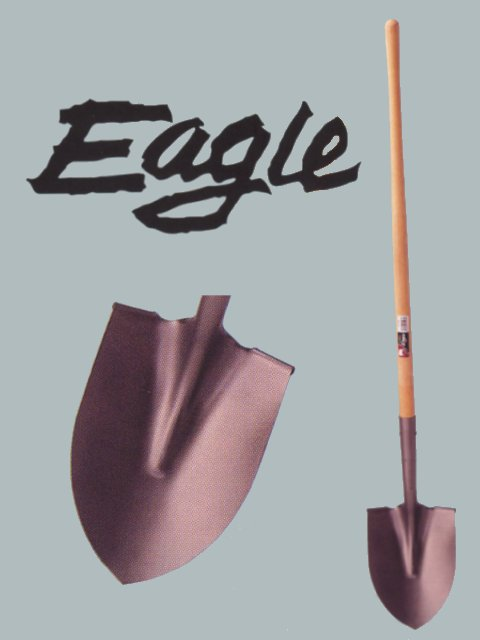 "8-1/4"" x 11"" Eagle Steel Round Point Digging Shovel W/46"" Handle"