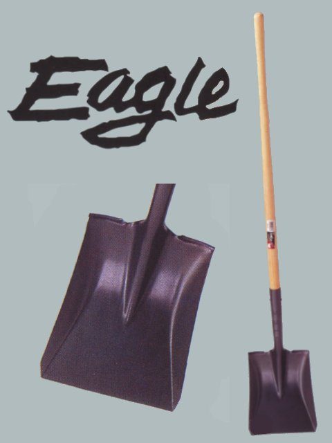 "9"" x 10-1/2"" Eagle Steel Square Point Digging Shovel W/46"" Handle"