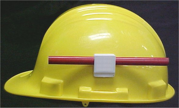 Adhesive Hard Hat Pencil Holder - Clip