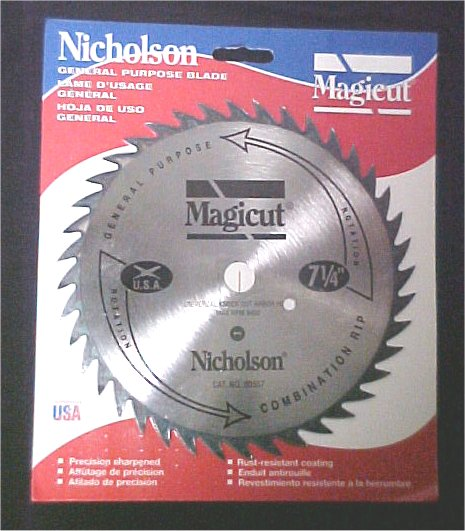 "Skil 8-1/4"" Combination Rip & Cross Cutting Blade 5/8"" Arbor"
