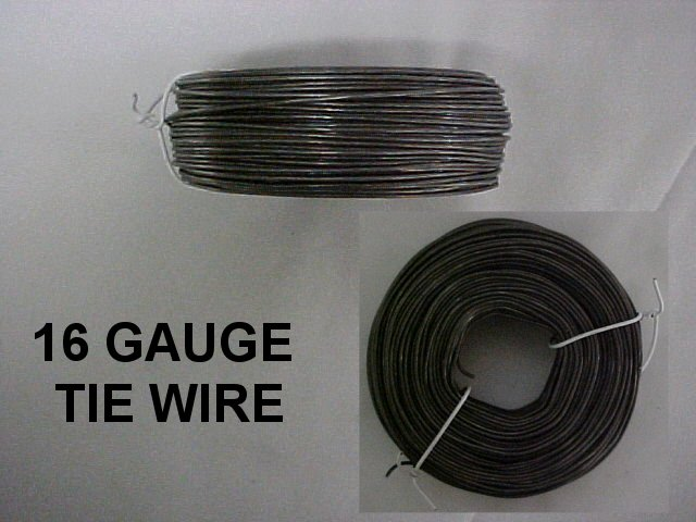 16 Gauge Tie Wire : Concrete form placement tie wire metal reel nail