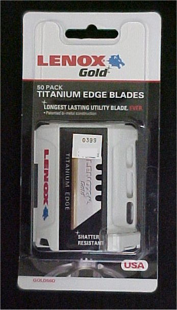 Lenox Gold Titanium Edge Replacement Utility Knife Blades (50 Pack)