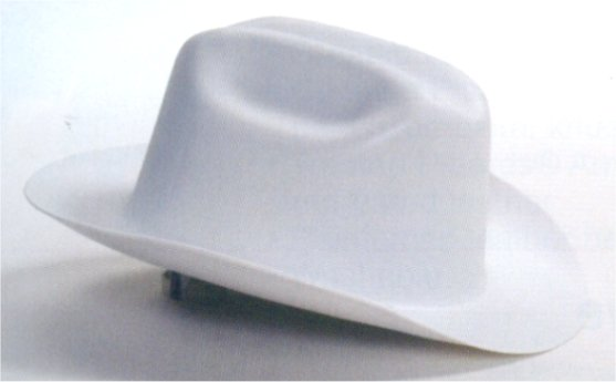 Cowboy Construction Safety Hard Hats - Western Outlaw White