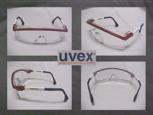 UVEX Patriot Stylish Industrial Safety Sun Glasses W/Clear Lens