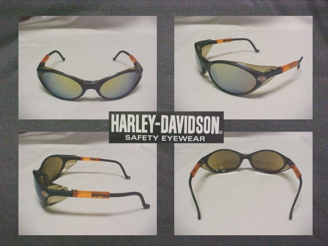Harley Davidson Cool Safety Sun Glasses W/Gold Mirror Lenses