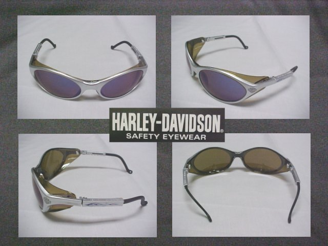Harley Davidson Cool Safety Sun Glasses W/Silver Mirror Lenses