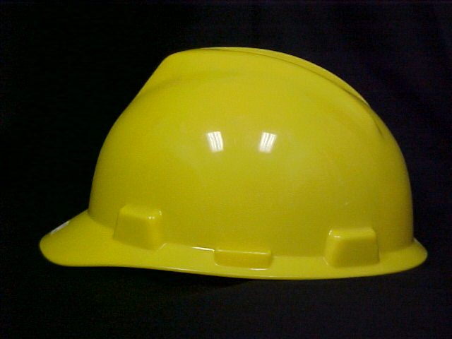 Mine Safety Appliances Construction Safety  Hard Hat - Yellow