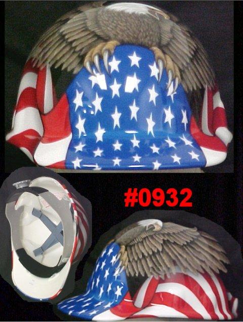 ebbed611111 Fibre-Metal Cap Style American Flag   Eagle Spirit of America Helmet ...