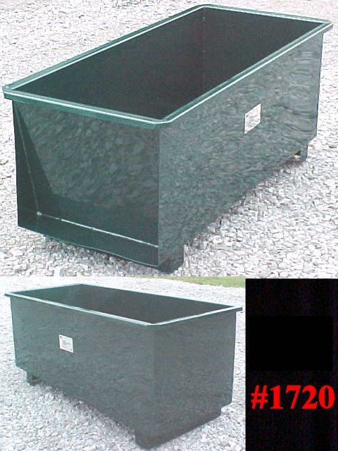 Skidded Mortar/Grout Mixing Box Tub With 10 Cu. Ft. Capacity
