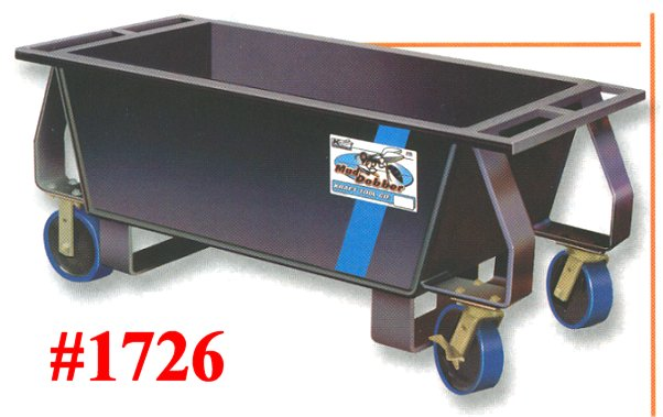 Steel Mortar Boxes : Heavy duty steel proform wheeled mortar box mixing boxes