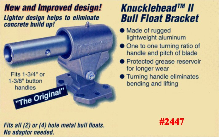 Kraft Knucklehead II Concrete & Cement Bull Float Bracket