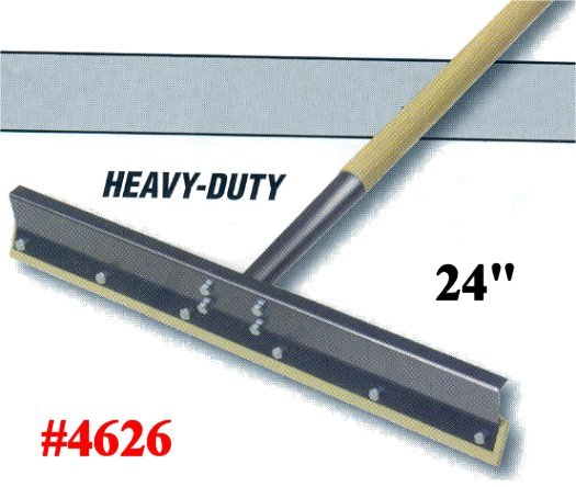Rugged Heavy Duty Reversible Rubber Blade Concrete Floor