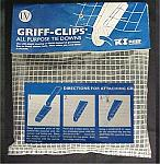 Griff-Clips All Purpose Plastic Sheeting & Fabric Tie Downs (50 Pack)