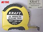 Kraft 16' Brick Mason's Modular Markings Measuring Tape