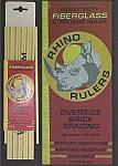 Rhino 6' Oversize Brick Spacing Heavy-Duty Fiberglass Folding Rule