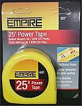 EMPIRE 25' Power Measuring Tape With Fractional Reading Blade