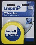 EMPIRE 30' Power Measuring Tape With Standard Scale Blade