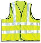 2XL Yellow Safety Vest With Reflective Strips