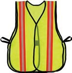 2XL-3XL Yellow Safety Vest W/Reflector Strip