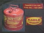 5 U.S. Gallon Eagle Safety Can