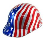 Construction Safety Hard Hats - American Flag
