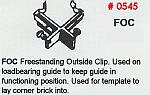 Masonry Guide FOC Freestanding Outside Clip Corner Pole Fitting