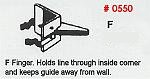 Masonry Guide F Finger Corner Pole Fitting