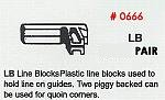 Masonry Guide LB Line Blocks (2 Pack) Corner Pole Fitting