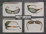 Harley Davidson Cool Safety Sun Glasses W/Gold Mirror Lens
