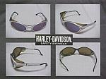 Harley Davidson Cool Safety Sun Glasses W/Silver Mirror Lens