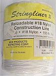 1000' Braided Nylon Construction Line - White