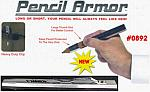 Pencil Armor - Pencil Holder/Protector W/Heavy-Duty Clip