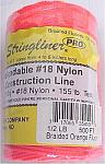 500' Braided Nylon Construction Line - Fluorescent Orange