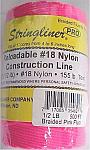 500' Braided Nylon Construction Line - Fluorescent Pink
