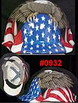 Fibre Metal Cap Style American Flag & Eagle Safety Hard Hat