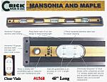 "48""  Crick Standard Three Piece Laminate Masonry Construction Builders Carpenters Masons Hardwood Level With Clear Vials"