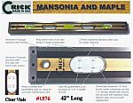"42"" Crick Five Piece Laminate Hardwood Masonry & Construction Builders Carpenters Masons Hardwood Level With Clear Vials"
