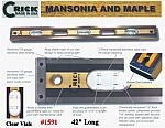 "42"" Crick Standard Three Piece Laminate Masonry & Construction Builder Masons Level With Rubber End Cushions With Clear Vials"