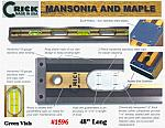 "48"" Crick Five Piece Laminate Masonry & Construction  Builders Level With Rubber End Cushions - Stainless Scuff Plates & Green Vials"