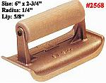 "6"" x 2-3/4"" Bronze Edger - Radius 1/4"", Lip 5/8"""