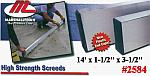 "14' x 1-1/2"" x 3-1/2"" High Strength Alloy Concrete Screed Tool"