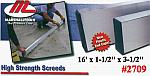 "16' x 1-1/2"" x 3-1/2"" High Strength Alloy Concrete Screed Tool"