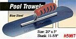 "20"" x 5"" Kraft Blue Steel Swimming Pool Concrete Trowel Tool"