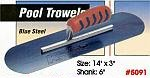 "14"" x 3"" Kraft Blue Steel Swimming Pool Concrete Trowel Tool"