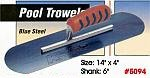 "14"" x 4"" Kraft Blue Steel Swimming Pool Concrete Trowel Tool"